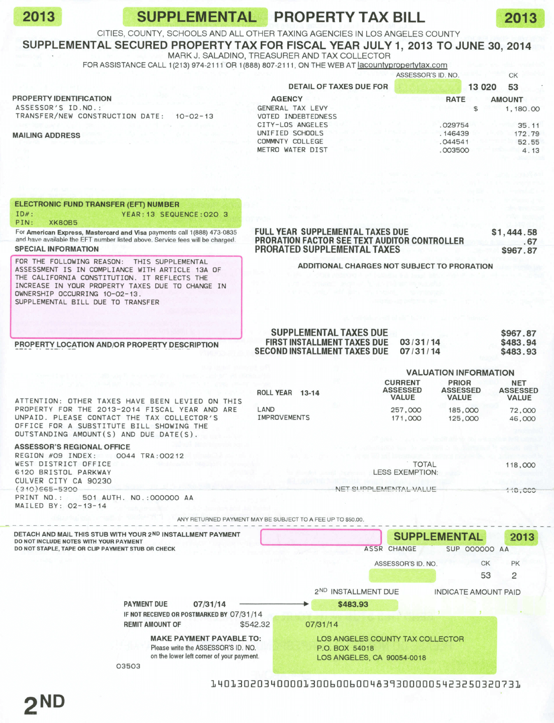 Sample-supplemental-tax-bill